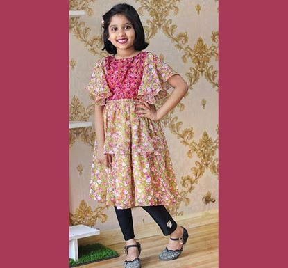 Georgette Frock for Baby Girl - DB1178Y