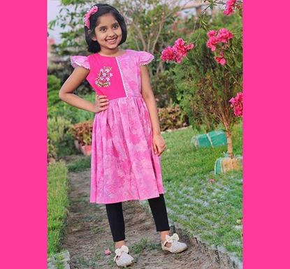 Cotton Frock for Baby Girl - DB1190P