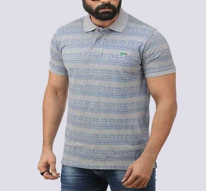 Half Sleeve Striped Polo T-shirt for Men - PL- 154