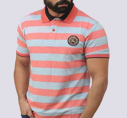 Half Sleeve Striped Polo T-shirt for Men - PL- 158