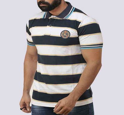 Half Sleeve Striped Polo T-shirt for Men - PL- 159