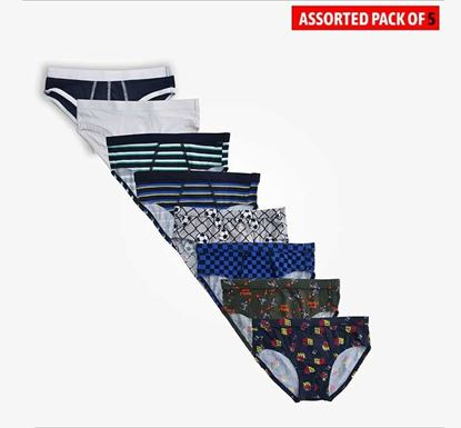 Assorted Cotton Underwear for Boys - 5 Pieces Combo