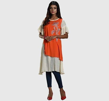 Kay Kraft YOUNGKAY Georgette Printed & Embroidered Tops YL-WK-313