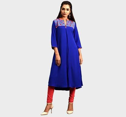 Kay Kraft YOUNGKAY Georgette Embroidered Tops YL-WK-341