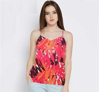 Red All Over Printed Tank Top for Women SAEC-10