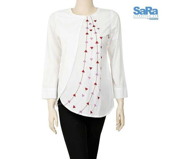 SaRa Cotton Tops for Women - NWFT64A