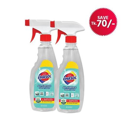 Emami Eamsol All Surface Sanitizer 500ml 2 Pieces Combo