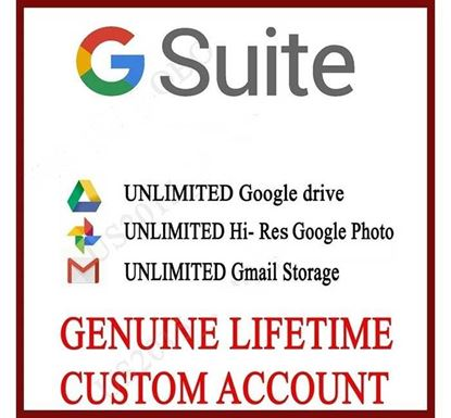 New G Suite Personal Account with Unlimited Google Drive Storage for Lifetime