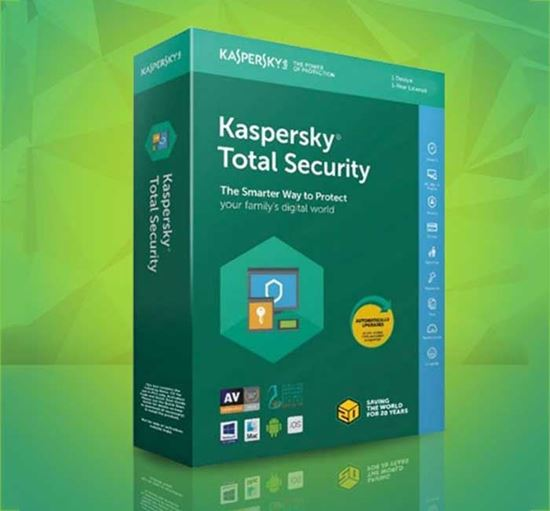 Kaspersky Total Security Antivirus 1 Year for Pc/Mac 1 Device