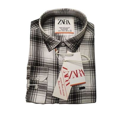 Cotton Shirt with Lapel Collar for Men - BE002
