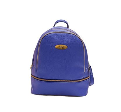 Leather Backpack for Ladies RB-114 BLU