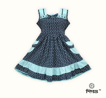 Diganta Print Cotton Frock for Baby Girl SF-535