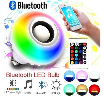 Remote Control Bluetooth Speaker Music with Led Bulb - Pin System