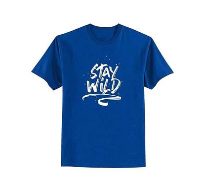 Stay Wild Half Sleeve T-shirt for Men – TOS115