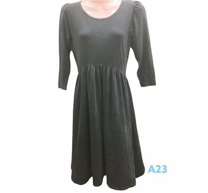 Full Sleeve Flared Dress for Ladies - A23
