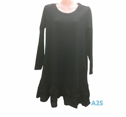 Full Sleeve Flared Dress for Ladies - A25