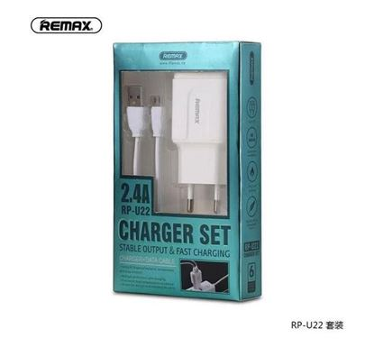 Remax RPU22 Lighting 2.4A fast Charging Dual USB Output Charger