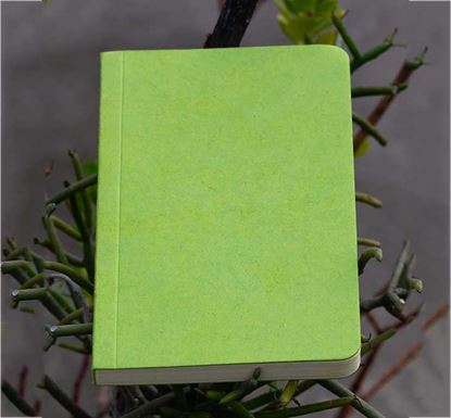 Yellowish Page Hand Made Green Cover Notebook