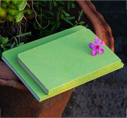Tent Series Yellowish Page Hand Made Green Cover & Explorer Notebook
