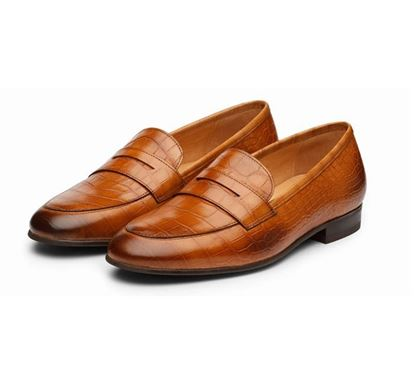 Penny Loafer Leather Shoe - 103-052