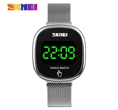 SKMEI Touch Screen LED Display Digital Watch - SK1589SIL