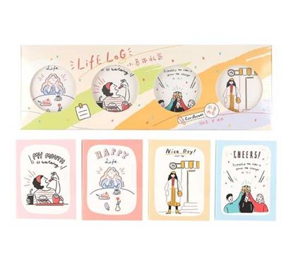 4 In 1 Life Log Attractive Gift Memo Pad - MPL001