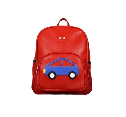 Faux Leather Backpack for Kids Car RD RB-156