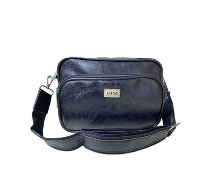 Faux Leather Sling Bag for Women BLK RB-334